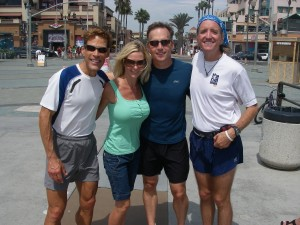 Dean Karnazes, Wendy and Chuck Goetschel, Greg Hardesty