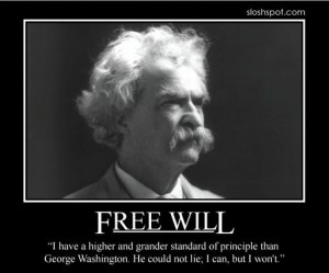 Mark Twain Freewill